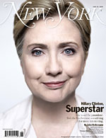 Hillary on cover of New York Magazine